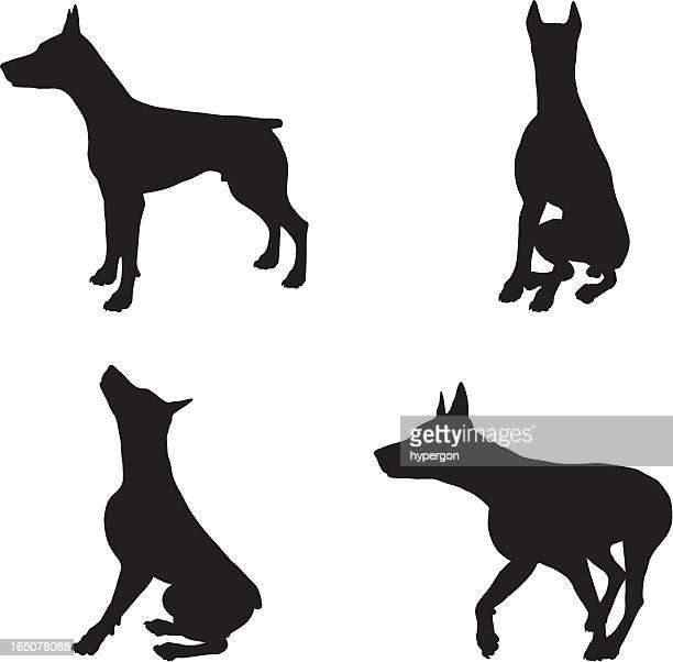 dog silhouette collection