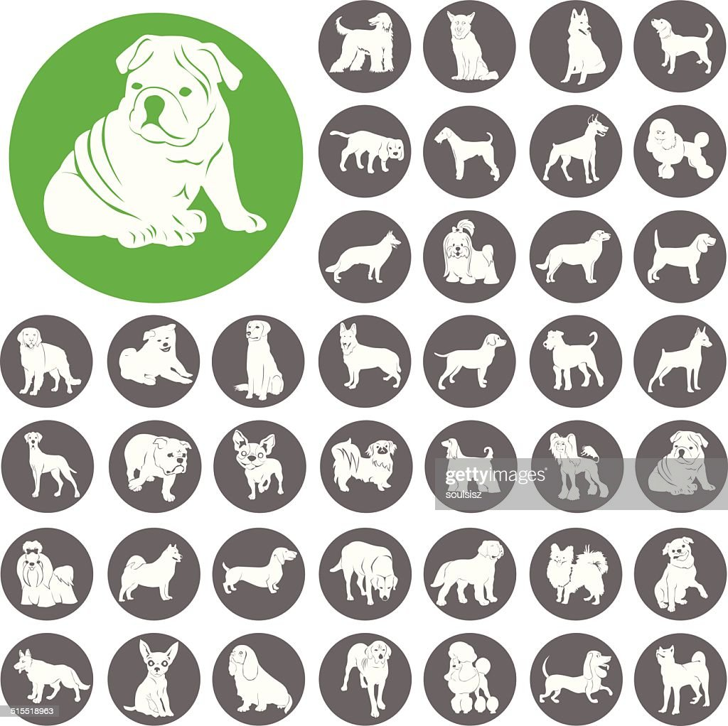 Dog Silhouette Icon Symbol. Illustration eps10