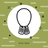 Dog Tags Military Icon