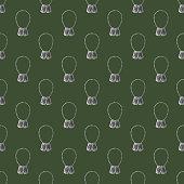 Dog Tags Seamless Military Pattern