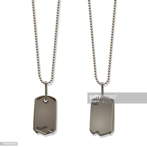 dog tags - collar stock illustrations