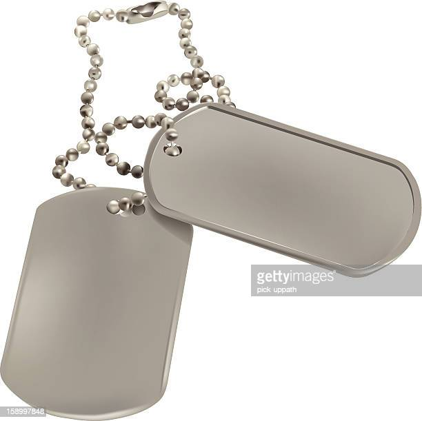 dog tags - military stock illustrations