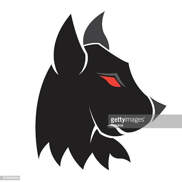dog - animal saliva stock illustrations, clip art, cartoons, & icons