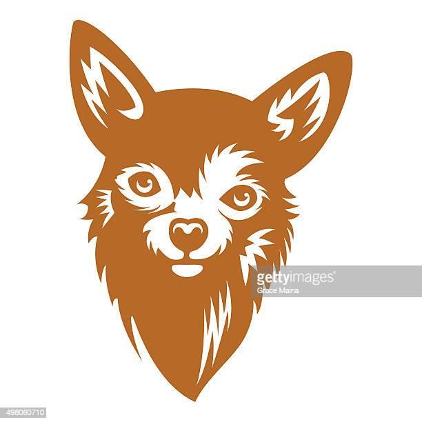 犬のベクトルイラスト-ベクトル - 突き出た鼻点のイラスト素材/クリップアート素材/マンガ素材/アイコン素材