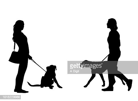 dog walk puppy high res vector graphic getty images dog walk puppy high res vector graphic getty images