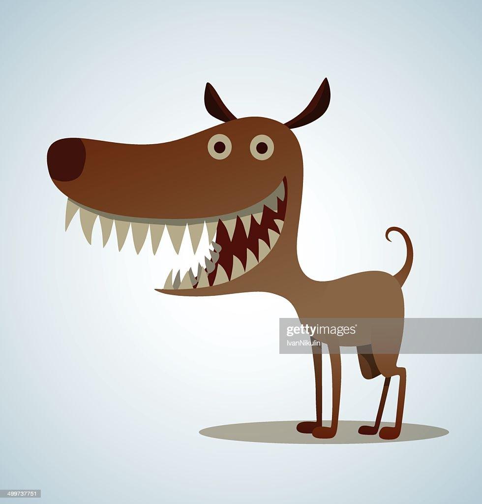 Dog with big teeth
