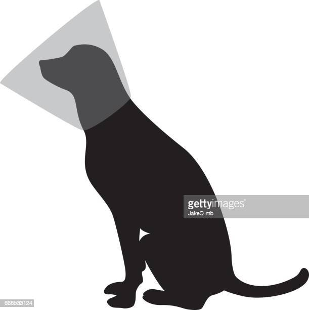 Hond met kegel silhouet