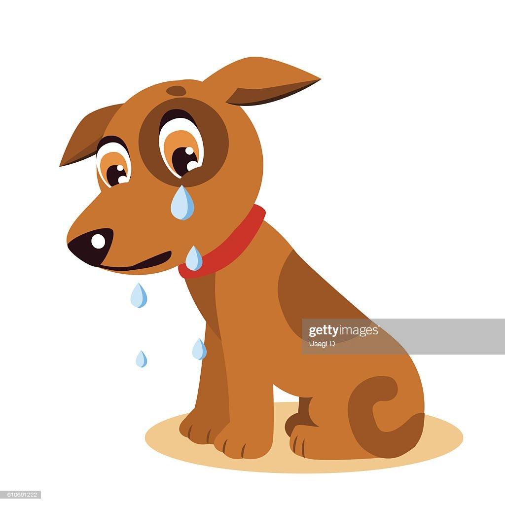 Dog With Tears. Crying Dog Emoji. Crying Dog Face.