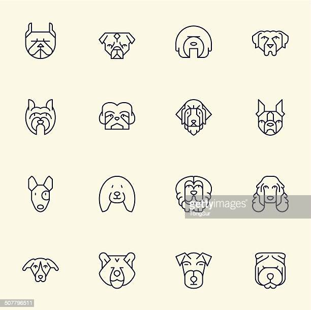 Dogs Head Icons | set 2 - Light Color