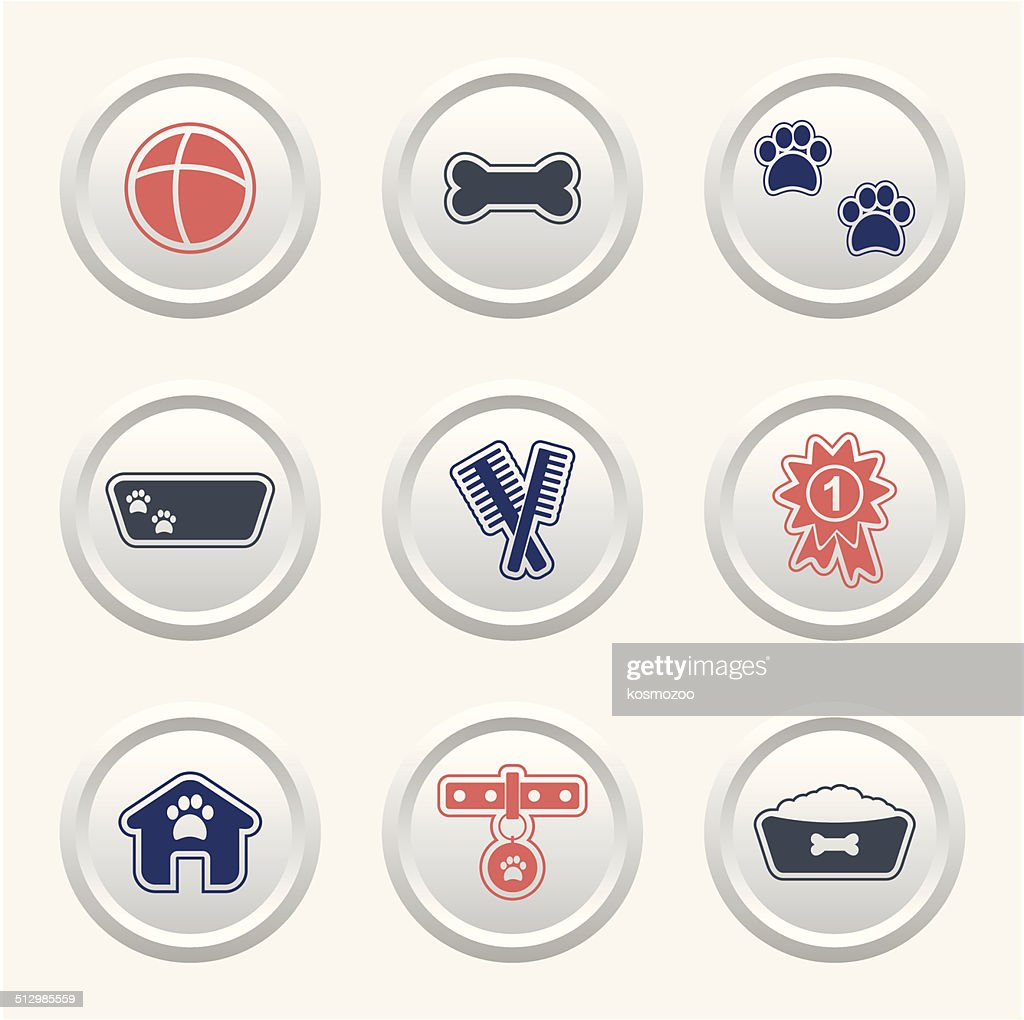 dogs icon : Stock Illustration