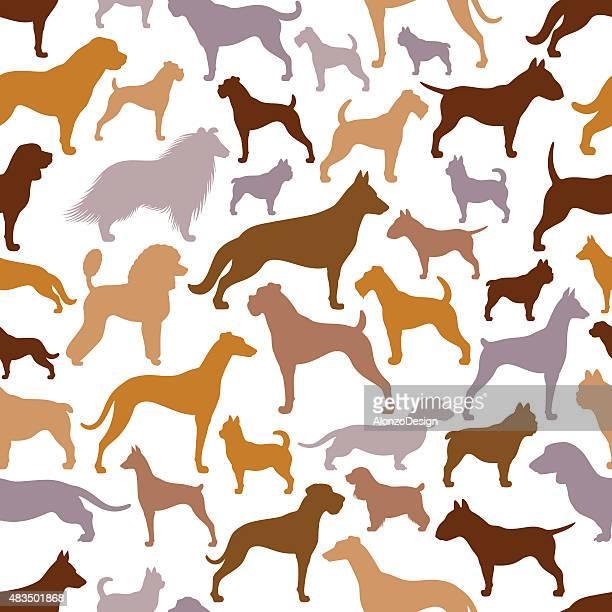 ilustraciones, imágenes clip art, dibujos animados e iconos de stock de patrón de perros - galgo