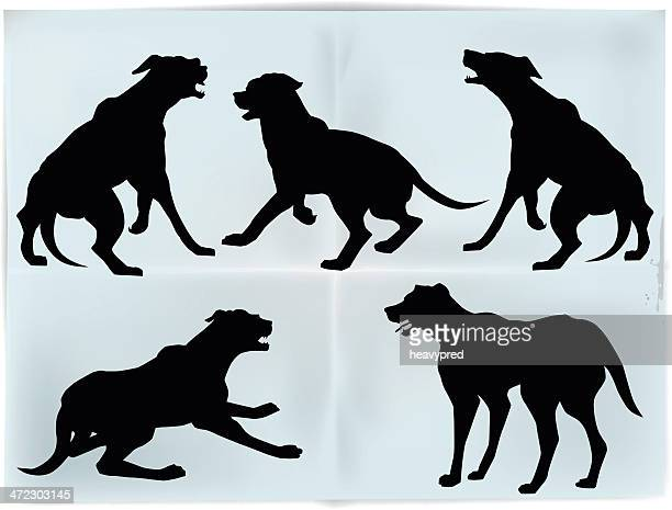 Dog's silhouettes