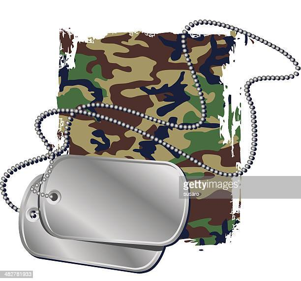 dogtags - army stock illustrations, clip art, cartoons, & icons