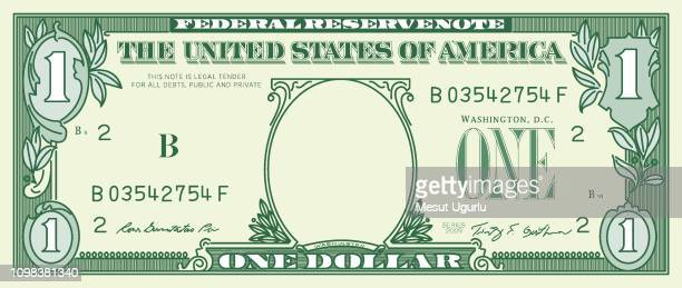 1 dollar banknote - american one dollar bill stock illustrations, clip art, cartoons, & icons