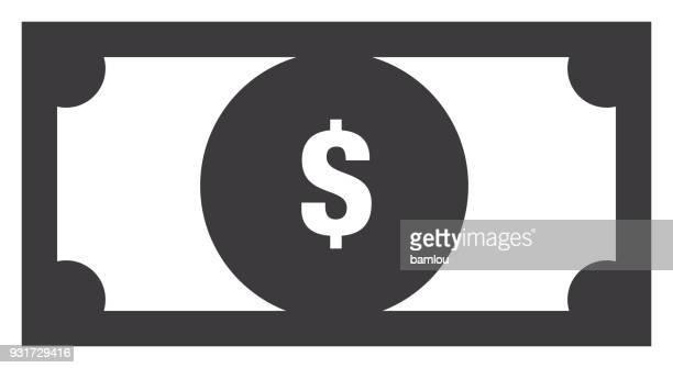 dollar bill icon - legal document stock illustrations, clip art, cartoons, & icons