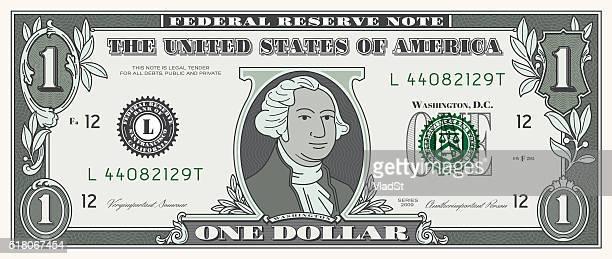 Dollar Bill ONE USD money currency