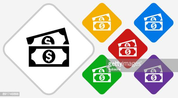 dollar bills color diamond vector icon - us paper currency stock illustrations, clip art, cartoons, & icons