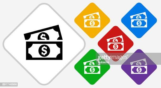 Dollar Bills Color Diamond Vector Icon