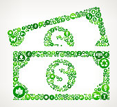 Dollar Bills Nature and Environmental Conservation Icon Pattern