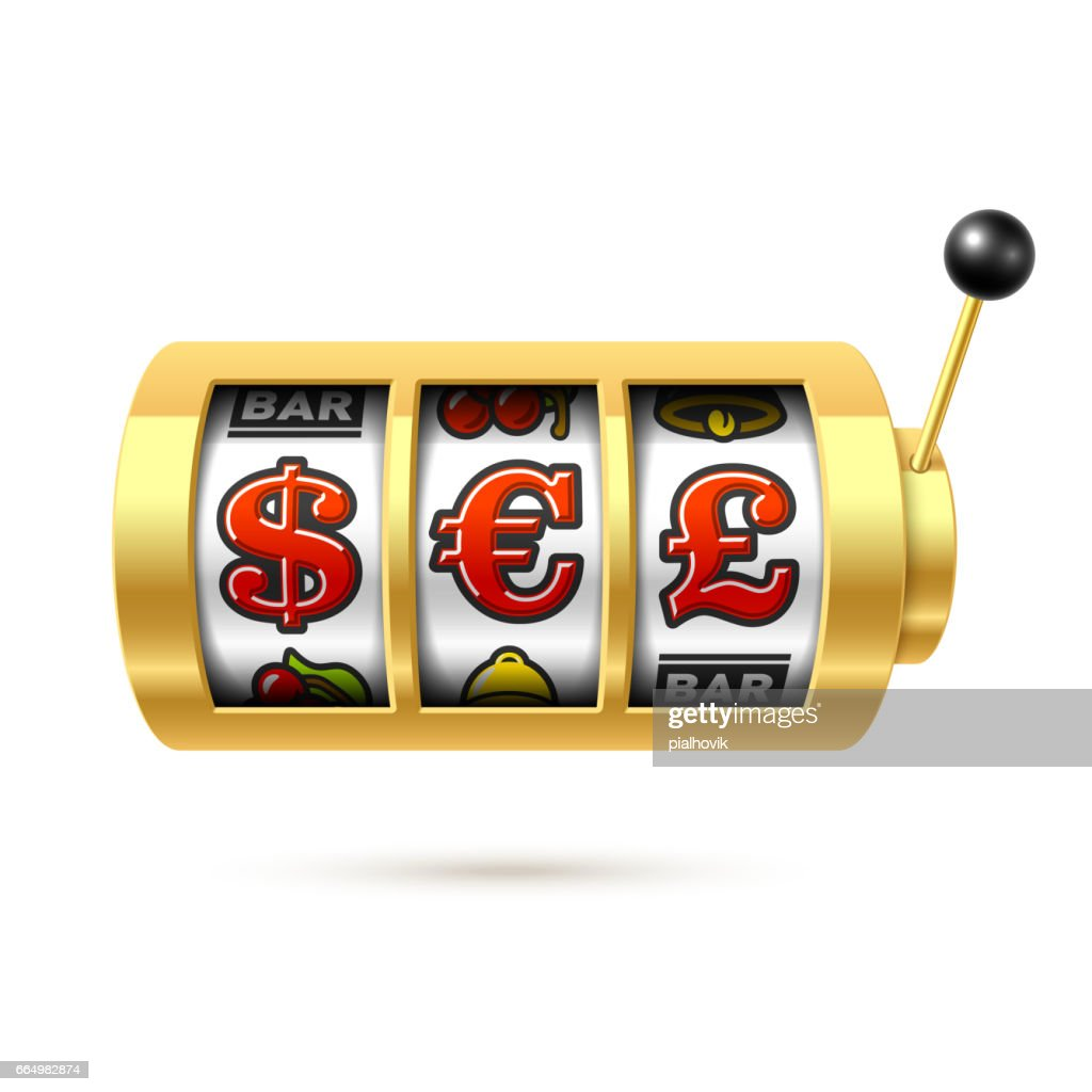 Dollar Euro And Pound Currency Symbols On Slot Machine Vector Art