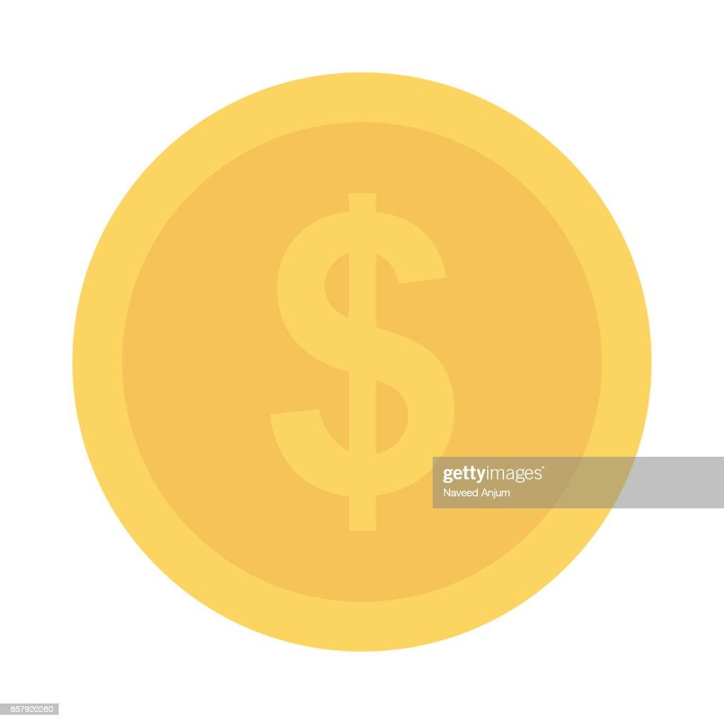dollar Flat Vector Icon