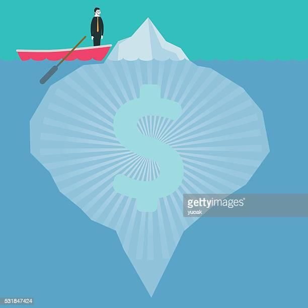 dollar iceberg - hidden stock illustrations, clip art, cartoons, & icons