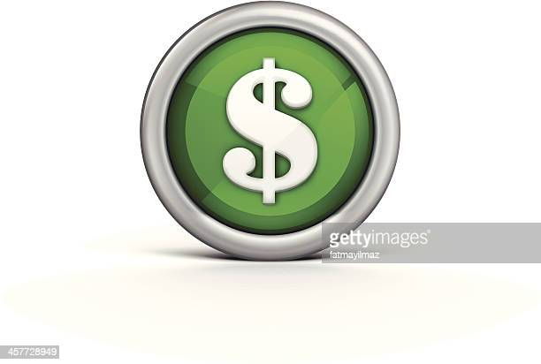 dollar icon - dollar sign stock illustrations, clip art, cartoons, & icons