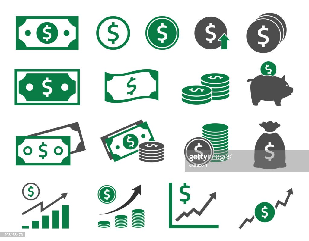 dollar icons set, money icon
