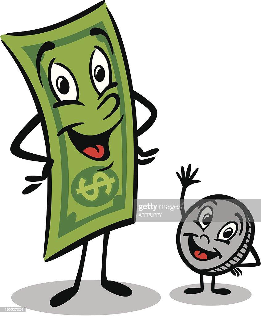 Dollar Man And Coin Boy