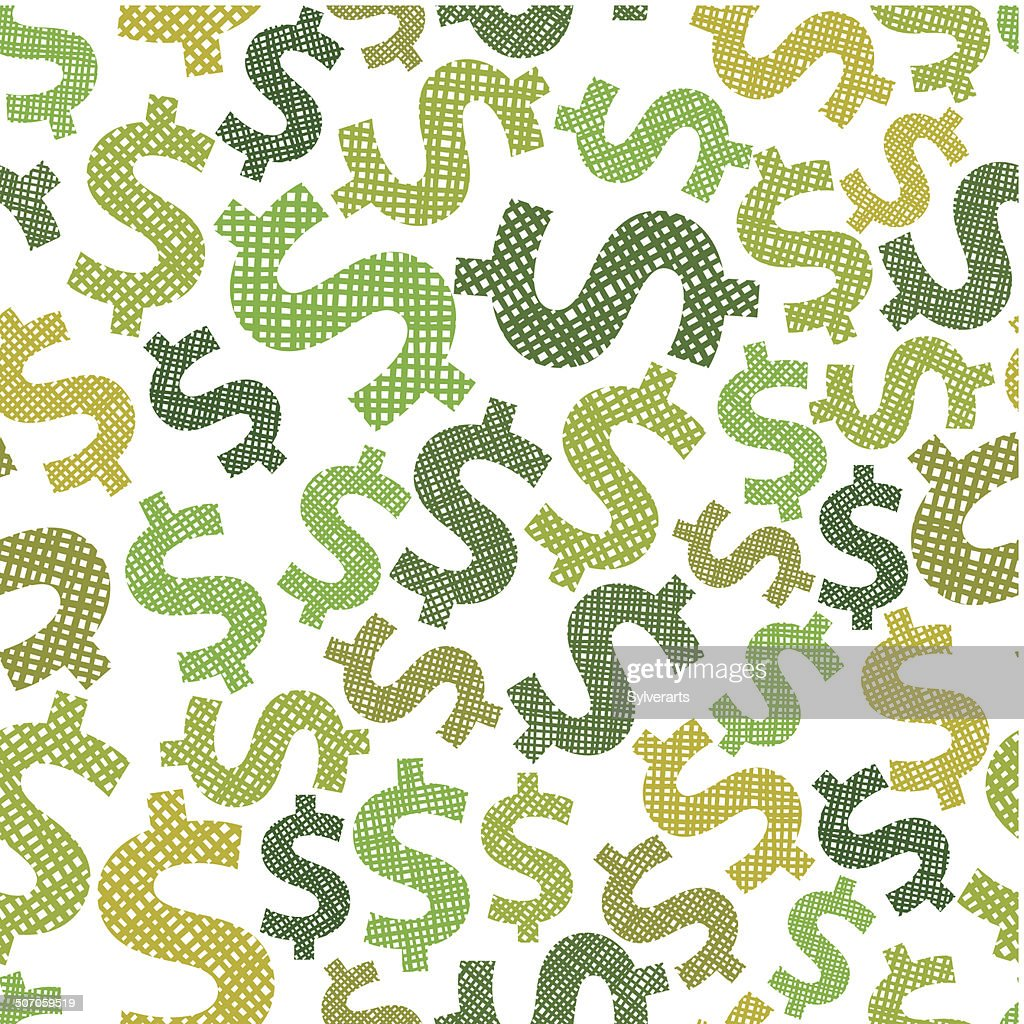Dollar seamless pattern, economy and money theme vector