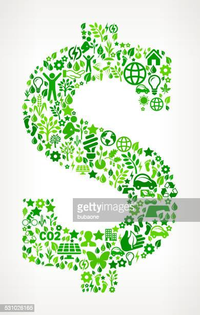Dollar Sign Environmental Conservation and Nature interface icon Pattern