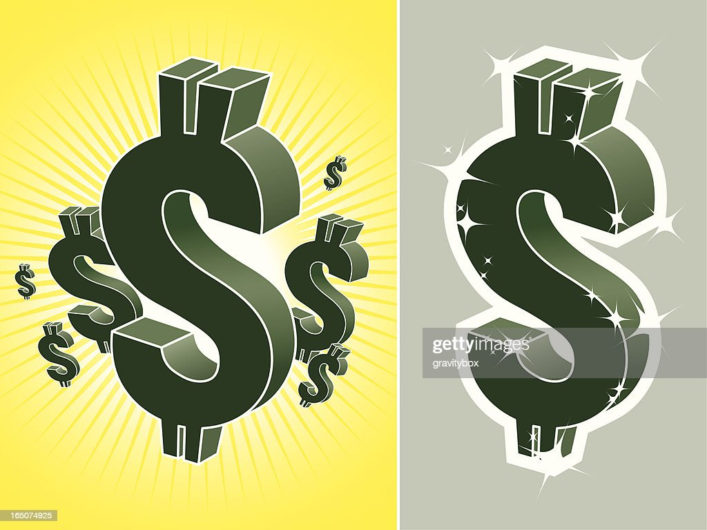 US dollar symbol : stock illustration