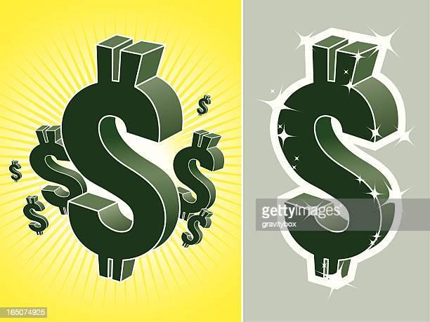 us dollar symbol - paycheck stock illustrations, clip art, cartoons, & icons