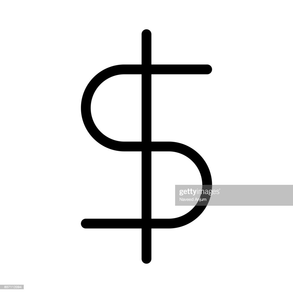 Dollar Thin Line Vector Icon