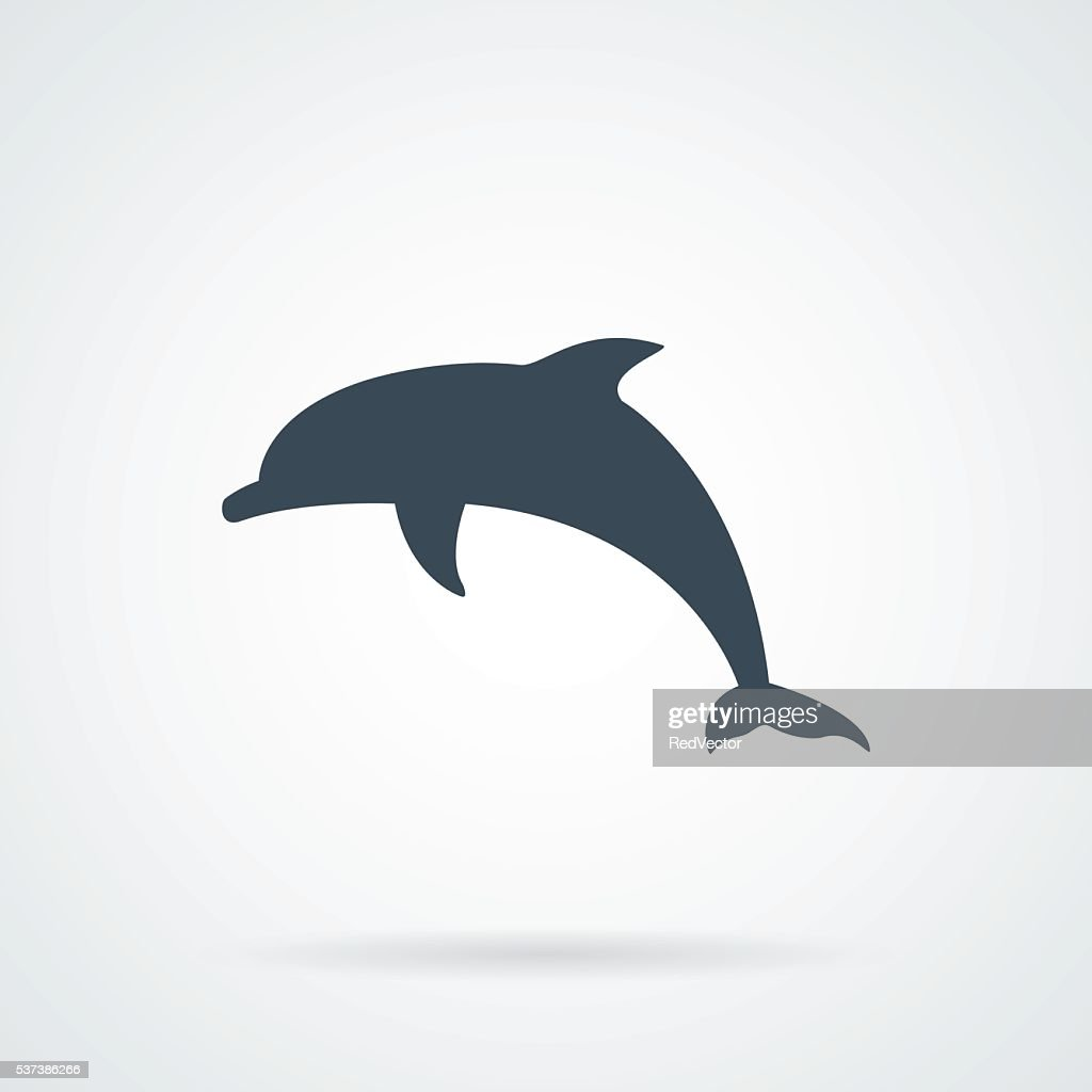 Dolphin black Silhouette vector illustration