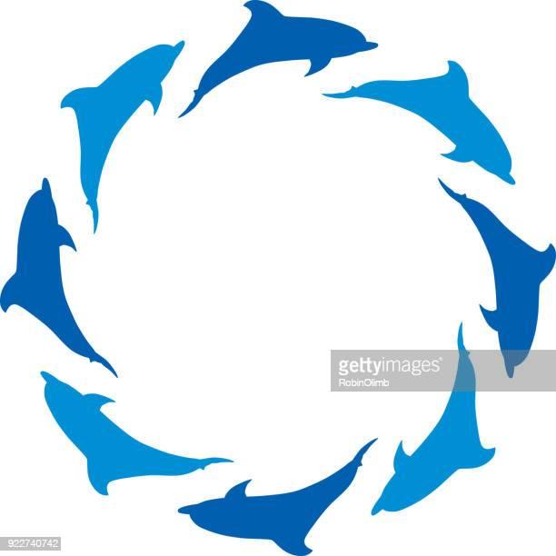 Dolphin Circle Frame