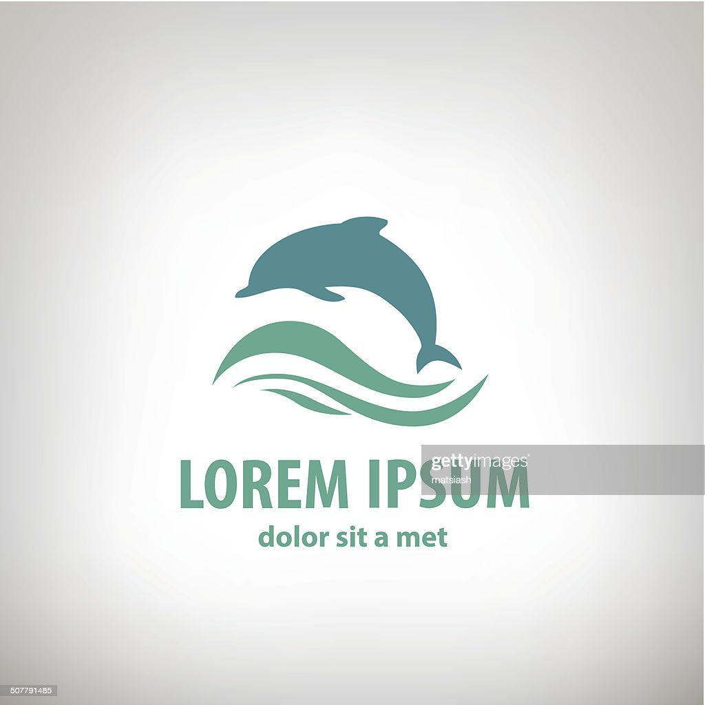 Dolphin icon design element