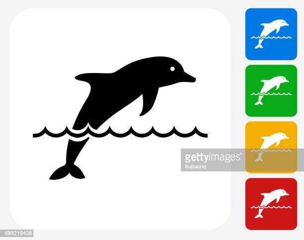 Dolphin Icon Flat Graphic Design