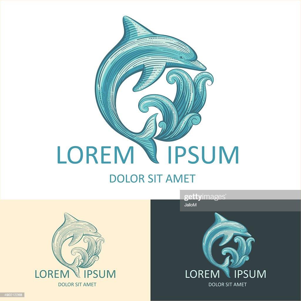 Dolphin Logo Template