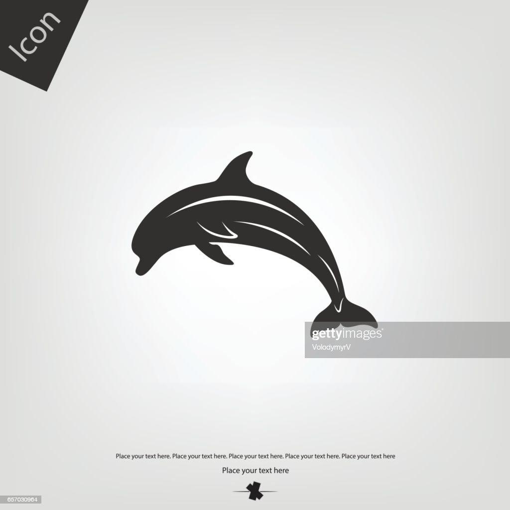 Dolphin vector icon
