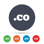 Domain CO sign icon. Top-level internet domain.