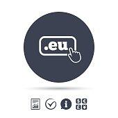 Domain EU sign icon. Top-level internet domain.