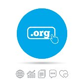 Domain ORG sign icon. Top-level internet domain.