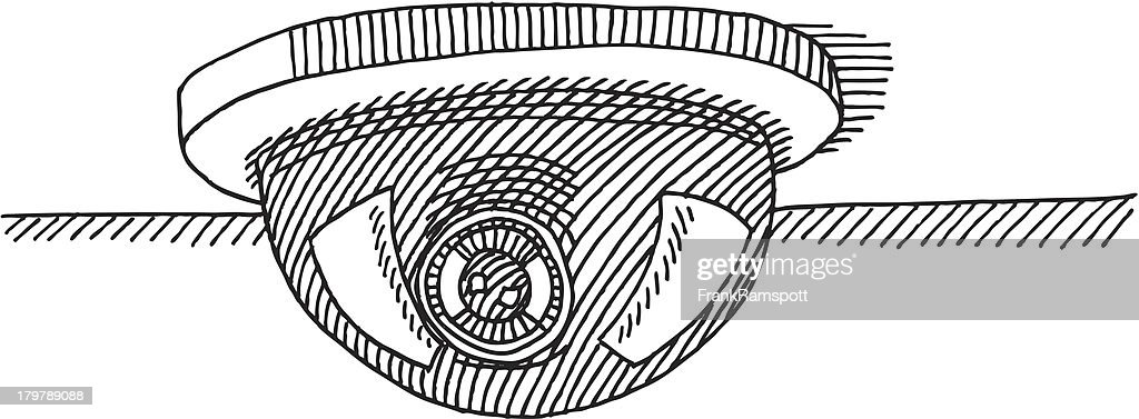 Dome De Securite Camera Dessin Illustration Getty Images