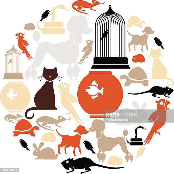 Domestic Pets Icon Set