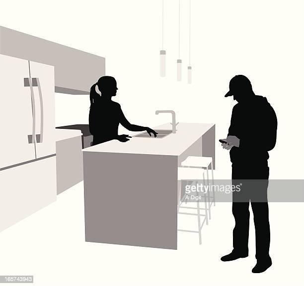 Kitchen Counter Stock Illustrations And Cartoons