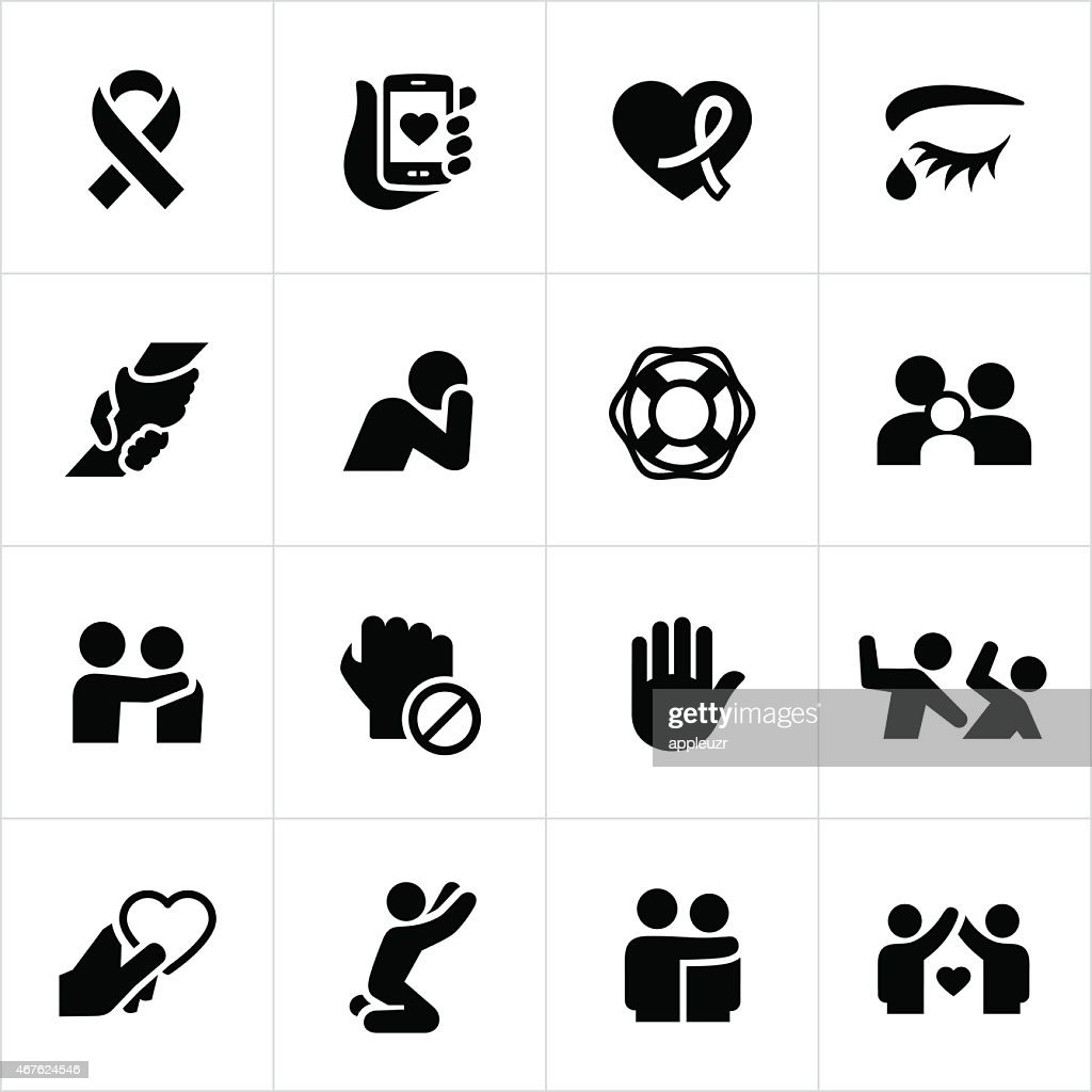 Domestic Violence and Abuse Awareness Icons