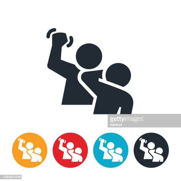 domestic violence icon - slapping stock illustrations