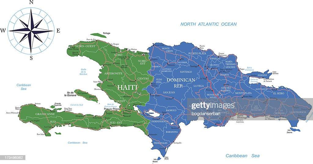 Dominican Republic and Haiti map