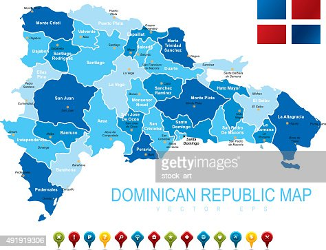 Dominican Republic Map Vector Art Getty Images - Map of the dominican republic